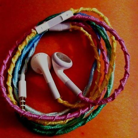 DIY Tangle-Free Headphones with Embroidery Floss | Home Improvement and DIY | Scoop.it