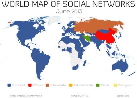 World Map of Social Networks | Vincos Blog | Social Media Breakdown - Time to categorize It! | Scoop.it