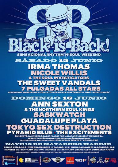 Black & Soul Weekend - Día 2 @ Nave 16 de Matadero Madrid (Madrid)   Black Is Back   Scoop.it