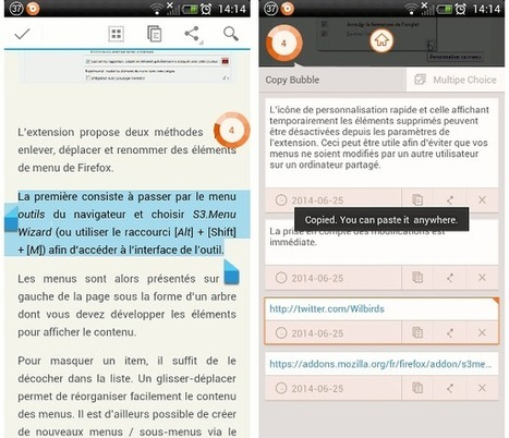 Copy Bubble : le copier coller multiple pour Android | Le Newbie | Android Apps for EFL ESL | Scoop.it
