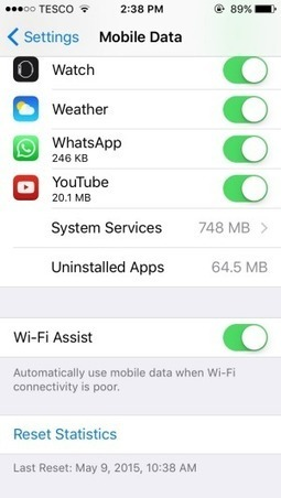 The one iOS 9 feature you should turn off, before it kills your data cap | Daily News Reads | Scoop.it