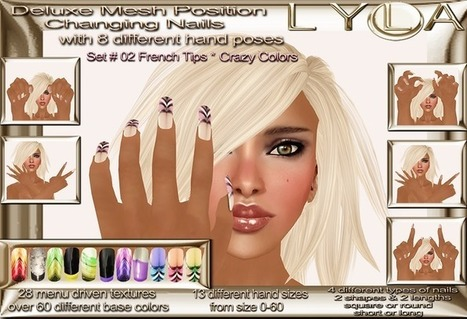 Market Way: [MW] PROMO : Lyla Deluxe Mesh Position Changing Nails set 02 french tips crazy colors FREE FREE FREE!!! | Collection Swatches | Scoop.it