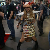 Her Amazing Dress is Made of Magic: The Gathering Cards. So Is Her Axe. | Cosplay News | Scoop.it