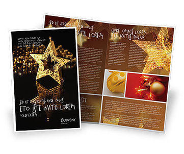 Gold Star Brochure Template | Brochure Templates | Scoop.it