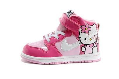 Blog - Pink High Tops Hello Kitty Dunks For Kids   Comic Nike Dunks   Scoop.it