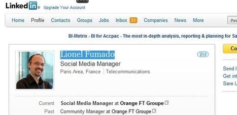 Interview de Community Manager : Lionel Fumado d'Orange | Le métier de community manager | Scoop.it