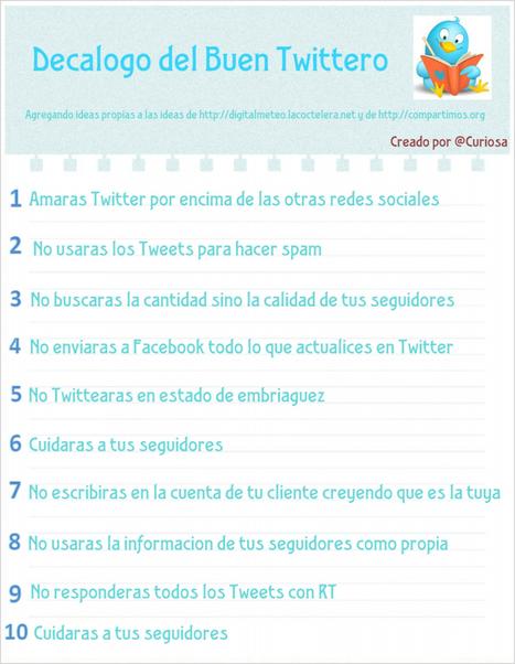 Decálogo del buen Tuitero infografia-infographic - TICs y Formación | Education TIC | Scoop.it