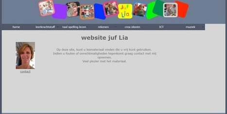 Edu-Curator: De Website juf Lia staat vol met gratis te downloaden werk- en oefenbladen | Tools en tips onderwijs | Scoop.it