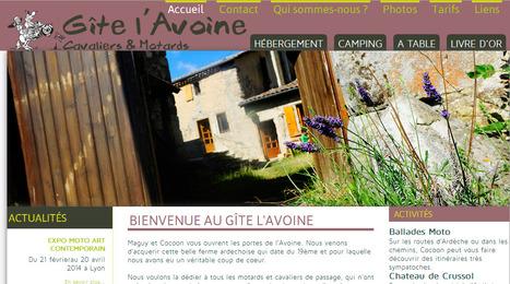 Ardèche - Gîte Motard l'Avoine | Sites qui ont implémenté les Widgets Sitra | Scoop.it