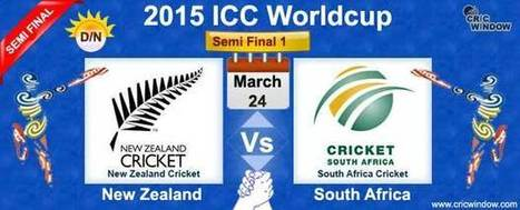 ICC Worldcup 2015: New zealand vs South Africa Report Semi Final 1 - Cricwindow.com | Live Cricket Scores and Match Highlights | Scoop.it