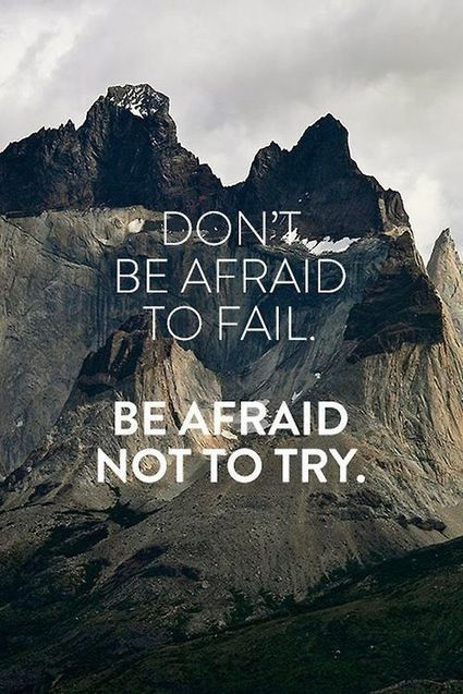 Don't be afraid|Inspirational Quotes | allwaysbehappy | Scoop.it