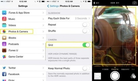 Compose Better Photos With iOS 7 Camera - Use Grid Lines [iOS Tips] | Cult of Mac | educational technology | Scoop.it