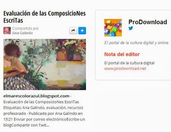 Evaluación de las Composiciones Escritas | PaLaBraS AzuLeS | DIN-A4 | Scoop.it