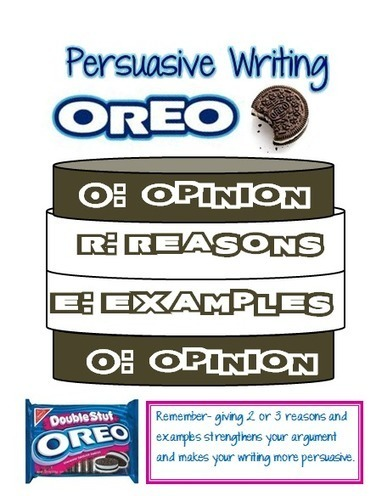 Our Cool School: Persuasive Writing: OREO....updated with PDF files | Writing | Scoop.it