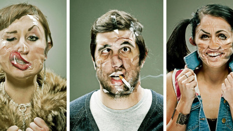 Portraits of people deformed by Scotch tape are hilariously freaky   Photography   Scoop.it