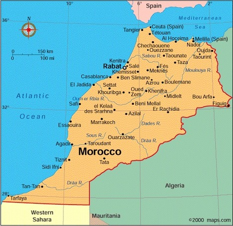 Map of Morocco   Morocco   Scoop.it