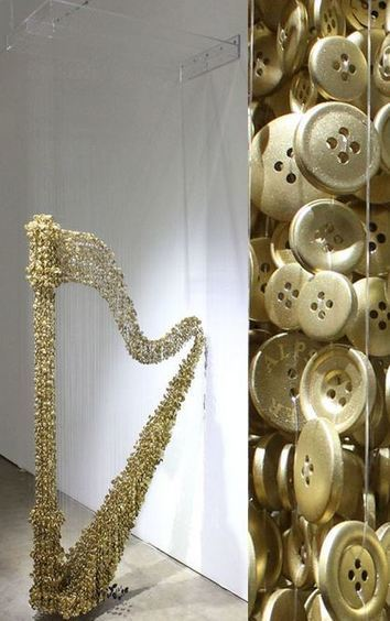 Button Art #art #sculpture #installation #buttons | Visual Art - 21st century sculpture | Scoop.it