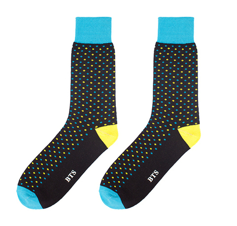 Buy Socks | Mens Black Sock with Yellow Blue Dots | Buy Socks | Scoop.it