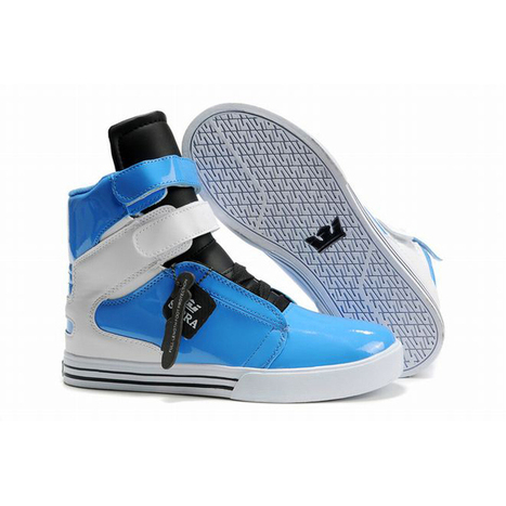 lady blue and white supra tk society high tops sneaker | popular list | Scoop.it