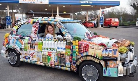 Unusual Vehicle Entirely Covered in Grocery Travels Across Britain | Strange days indeed... | Scoop.it