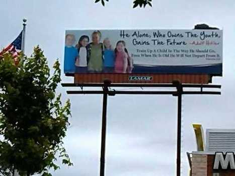 Opelika ministry rents, removes billboard with Hitler quote | Quite Interesting News | Scoop.it
