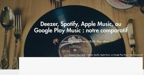 Le site du jour : Comparatif des services de streaming musical | Freewares | Scoop.it