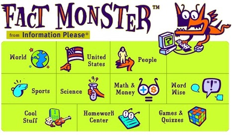 Fact Monster: Online Almanac, Dictionary, Encyclopedia, and Homework Help | Online Games for K-12 Learning | Scoop.it