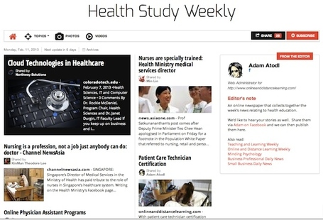 February 11, 2013: Health Study Weekly is out | Healthcare Professionals | Scoop.it