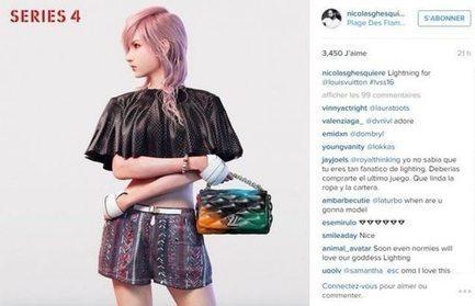 L'héroïne de Final Fantasy XIII égérie Vuitton   Cultures de l'Imaginaire   Scoop.it