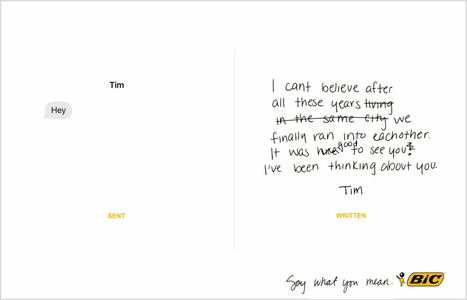 BiC campaign encourages writing vs. texting | Advertising, I say | Scoop.it