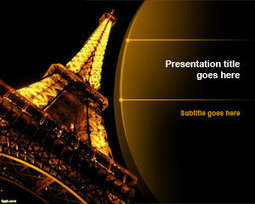 Free Night Eiffel Tower PowerPoint Template | Free Powerpoint Templates | F + T | Scoop.it