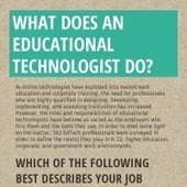 Infographic: What Does an Educational Technologist Do? | Educational Technology and Instructional Technology | Scoop.it