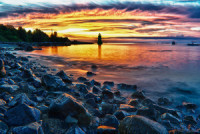 PHOTO: 'Fiery Lighthouse' - Patch.com | Amazing Rare Photographs | Scoop.it