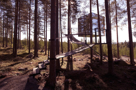 """""""Treehotel"""" Cabins Offer One-Of-A-Kind Lodging in a Bird's Nest and UFO 