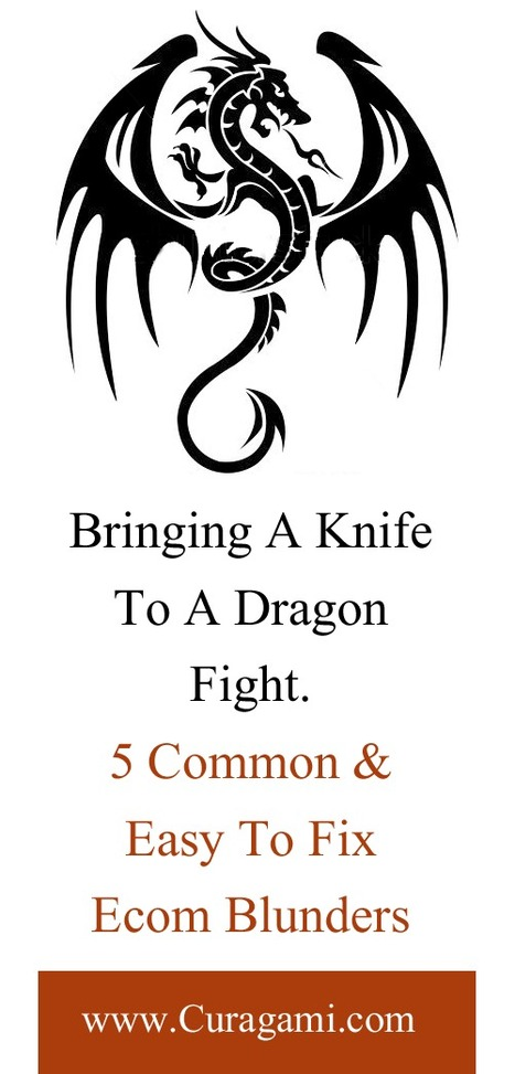 Don't Bring A Knife To A Dragon Fight & 5 Other Easy To Fix Ecom Blunders | Startup Revolution | Scoop.it