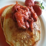 Strawberry-Rhubarb Cottage Cheese Pancakes | Hungry Food Photography | Scoop.it
