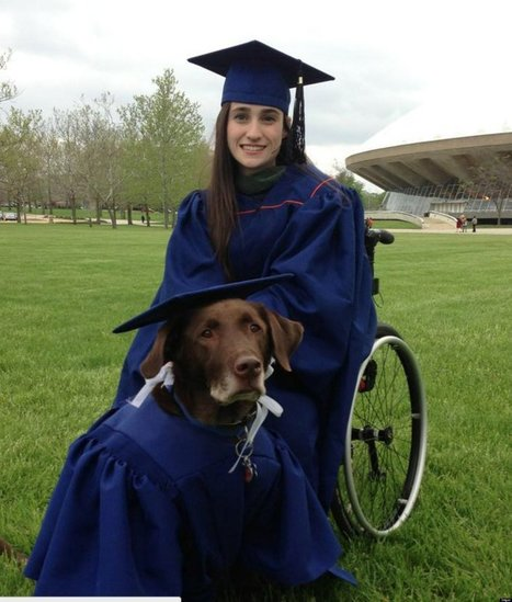 LOOK: Disabled Student & Service Dog Hero Attend Graduation In Matching Caps & Gowns | Welfare, Disability, Politics and People's Right's | Scoop.it