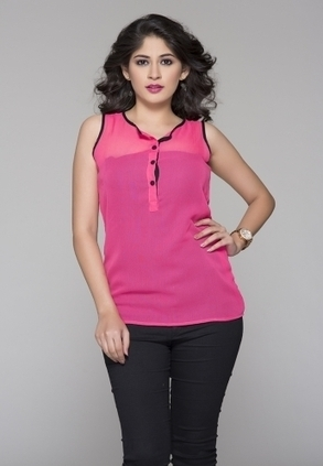 Double your fashion flair wearing this pink coloured top . This top is designed as per the latest trends and fashioned using quality georgette. This beautiful creation will give you a trendy look w... | Buy  Women Shirts‎ on itibeyou.com | Scoop.it