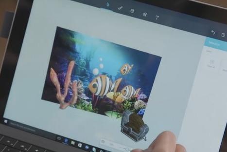 Microsoft repense Paint de fond en comble et le fait passer à la 3D | Web Increase | Scoop.it