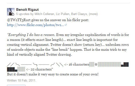 ASCII Art - What's the secret to Twitter ASCII art? - Quora