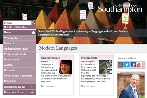 Visit the official Modern Languages website | Get Ready For Languages at Southampton | Scoop.it