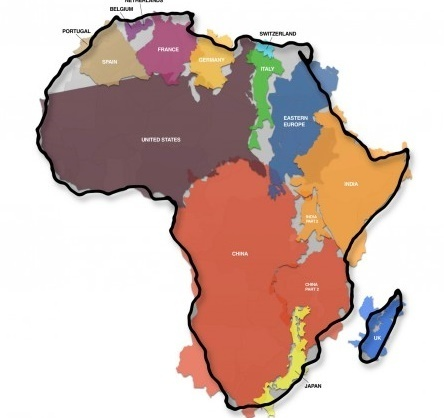 This Is The True Size Of Africa | Expand to Global Markets | Scoop.it