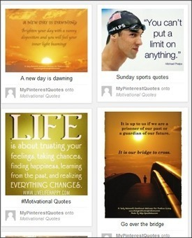 World Of Social Media: Quotes Plus Pinterest Equals BLOG FIRE! | Self Promotion | Scoop.it