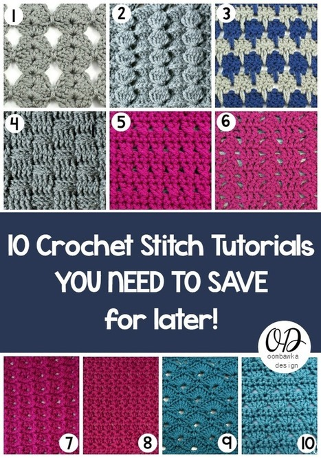 Guest Post: 10 Crochet Stitch Tutorials You Need To Save For Later   Top Crochet Pattern Blog   Handcraft - knitting, crocheting, sewing, embroidery   Scoop.it