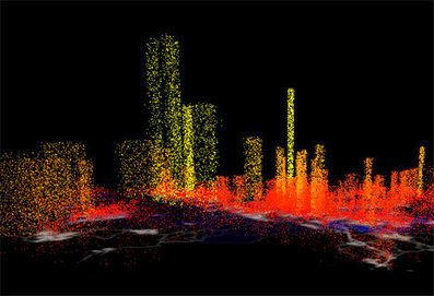 Information City: Digital Visualization of Invisible Data Flow | informational landscapes | Scoop.it