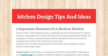 3 Important Elements Of A Modern Kitchen | Kitchens | Scoop.it