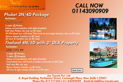 Phuket 3n/4d Package-thailand holiday package-thailand package at joy travels | Malaysia Tour Packages from India | Scoop.it