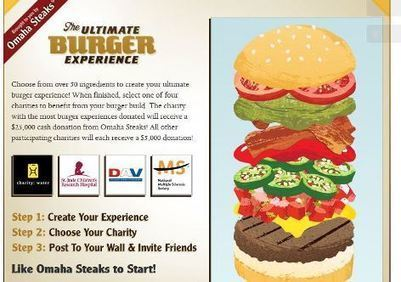Omaha Steaks Launches Facebook Burger Promo for Charities - PRNewser | Social Experiments | Scoop.it