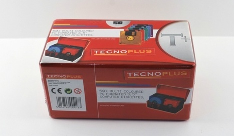 """Tecnoplus 50 x Multi Coloured PC Formatted 3.5"""" Floppy Disks Diskettes With Case 