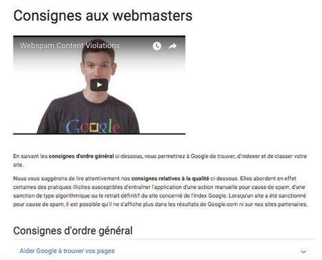 Google met à jour ses consignes pour webmasters - Actualité Abondance | Référencement internet | Scoop.it